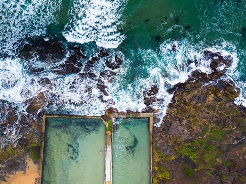 Internal photo of ocean baths on Sydney foreshore