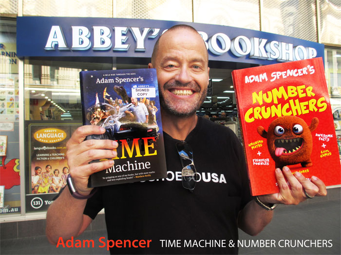 Adam Spencer's Time Machine at Abbey's Bookshop 131 York Street Sydney