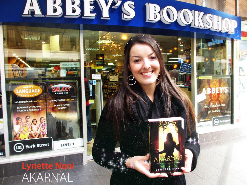 Akarnae by Lynette Noni at Abbey's Bookshop 131 York Street, Sydney