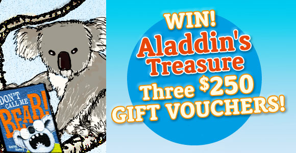 Aladdin's Treasure ~ Win one of three $250 Gift Vouchers