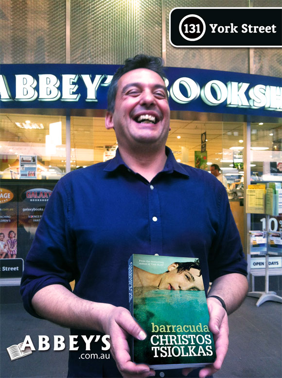Barracuda by Christos Tsiolkas at Abbey's Bookshop 131 York Street, Sydney