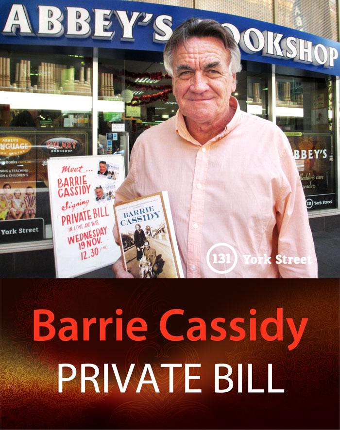 Barrie Cassidy at Abbey's Bookshop 131 York Street, Sydney