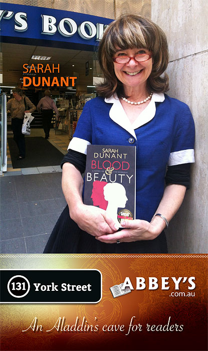 Blood & Beauty by Sarah Dunant at Abbey's Bookshop 131 York Street, Sydney