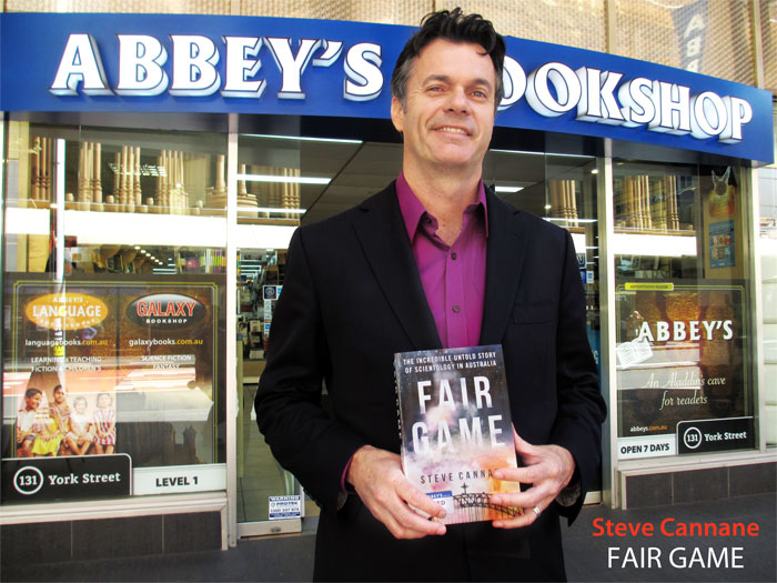 Fair Game: the Incredible Untold Story of Scientology in Australia by Steve Cannane at Abbey's Bookshop 131 York Street Sydney