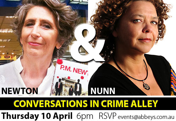 April 10 Conversations in Crime Alley at Abbey's Bookshop 131 York Street, Sydney