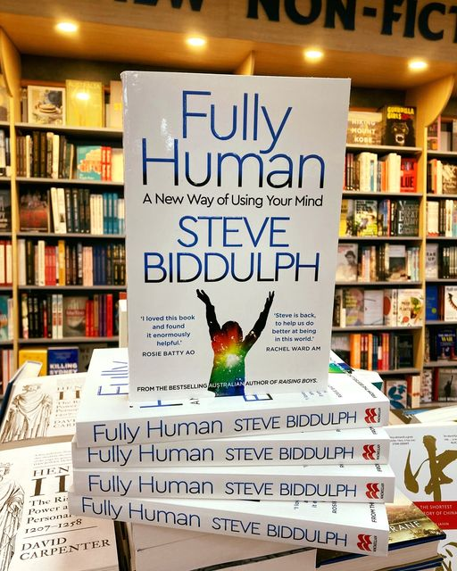 FULLY HUMAN By Steve Biddulph on the bookshelf at Abbey's Bookshop