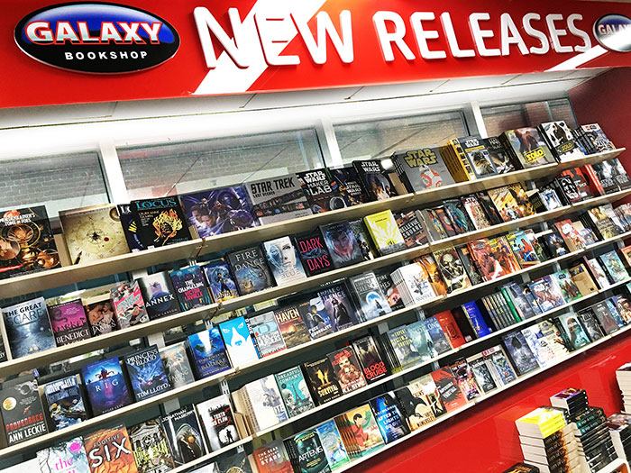 GALAXY Store New Releases Wall