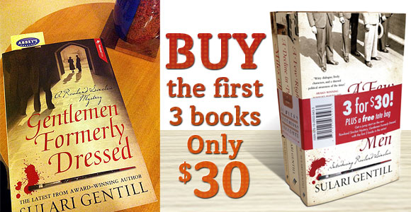 Gentlemen Formerly Dressed by Sulari Gentill and 3 pack offer at Abbey's Bookshop 131 York Street, Sydney