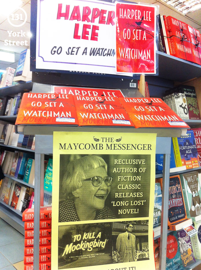 Go Set a Watchman by Harper Lee at Abbey's Bookshop 131 York Street, Sydney