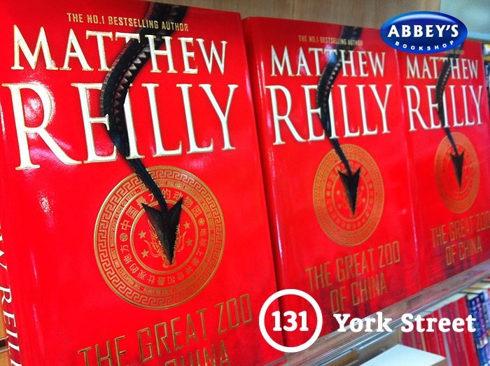 The Great Zoo of China by Matthew Reilly at Abbey's Bookshop 131 York Street, Sydney