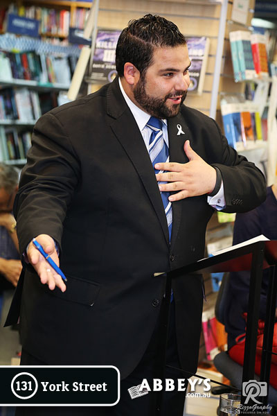 Andrew Morello at Abbey's Bookshop 131 York Street, Sydney