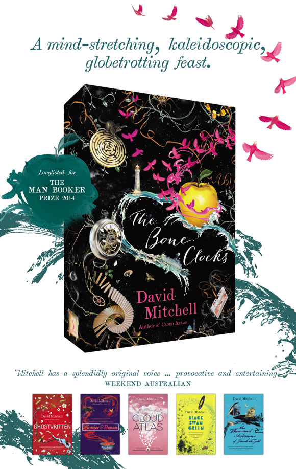 The Bone Clocks by David Mitchell at Abbey's Bookshop 131 York Street, Sydney