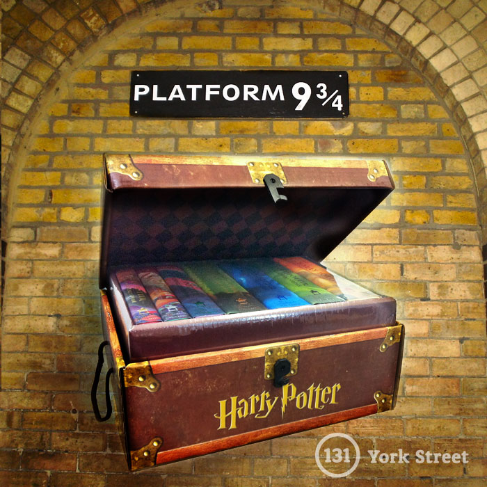 Harry Potter Boxed Set in Travel Chest at Abbey's Bookshop 131 York Street, Sydney