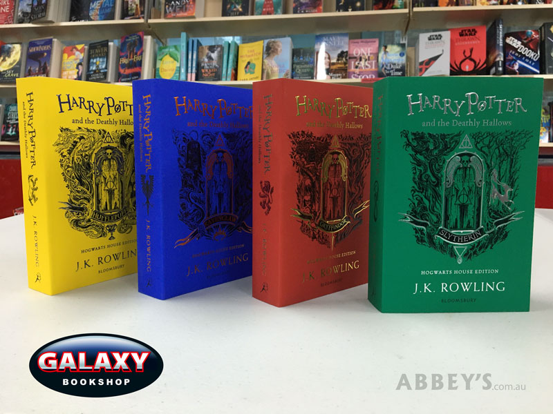 The Hogwarts House Editions - #7 Deathly Hallows - set of 4 Paperback books on the bookshelf at Abbey's Bookshop