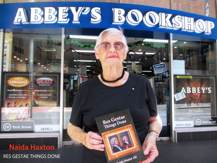 Res Gestae: Things Done by Naida Haxton at Abbey's Bookshop 131 York Street Sydney
