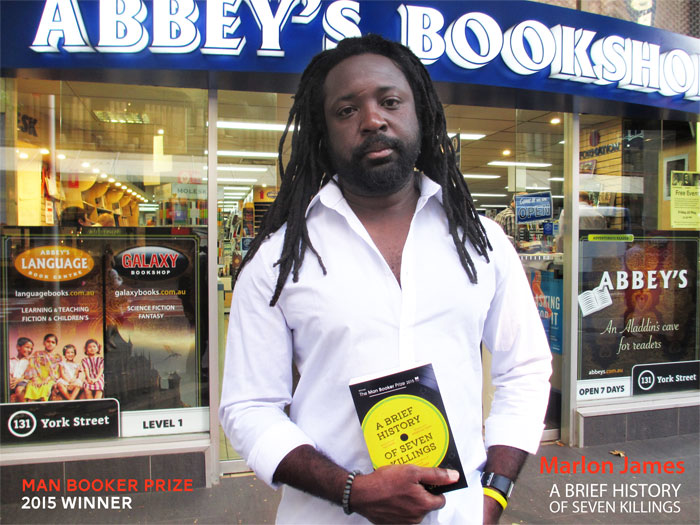 A Brief History of Seven Killings by Marlon James at Abbey's Bookshop 131 York Street, Sydney