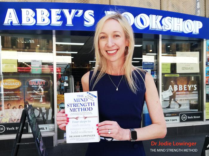Dr Jodie Lowinger at Abbey's Bookshop