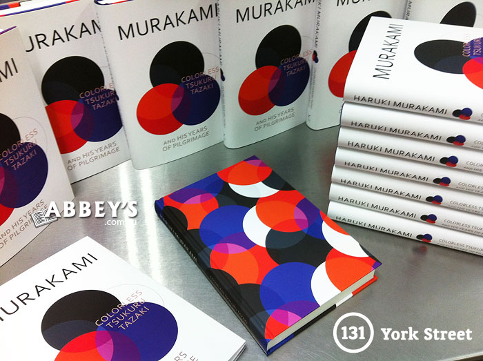 Colorless Tsukuru Tazaki and His Years of Pilgrimage by Haruki Murakami at Abbey's Bookshop 131 York Street, Sydney