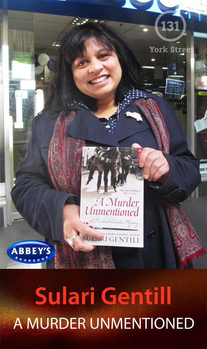 A Murder Unmentioned by Sulari Gentill at Abbey's Bookshop 131 York Street, Sydney