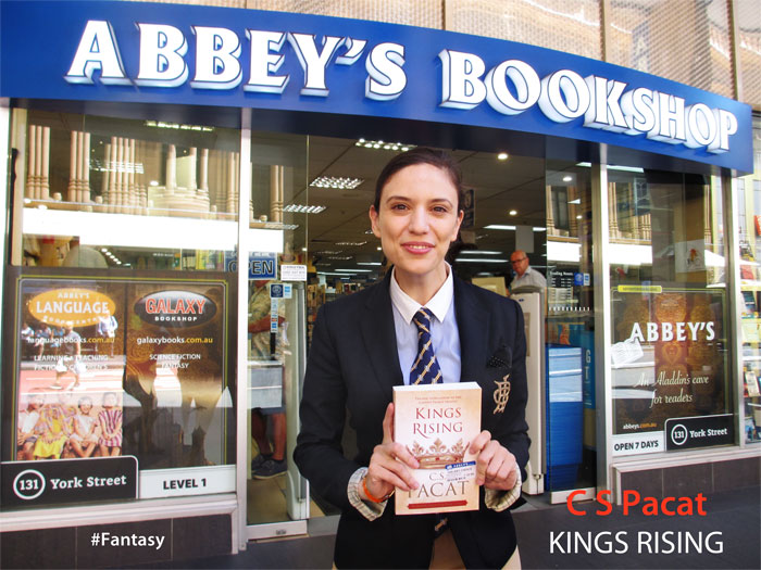 Kings Rising: Captive Prince #3 by C.S. Pacat at Abbey's Bookshop 131 York Street, Sydney