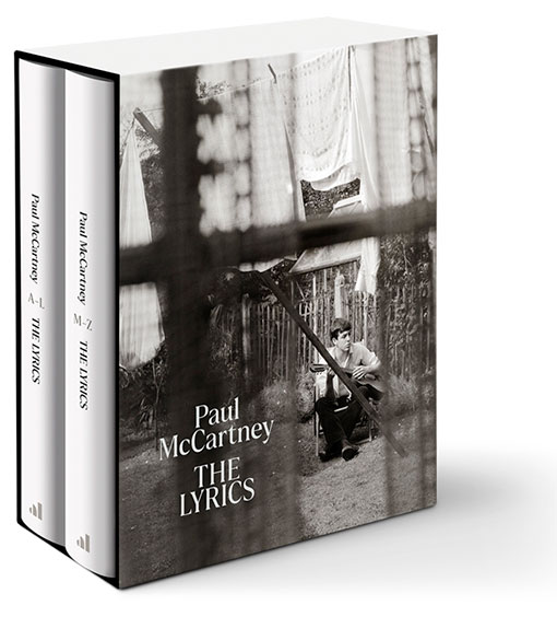 The Lyrics by Paul McCartney - Slipcase with two volumes. Slipcase with black & white photo of a young Paul with his guitar
