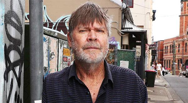 Peter Corris in Newtown, Sydney
