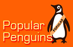 Orange Popular Penguins in stock at Abbey's