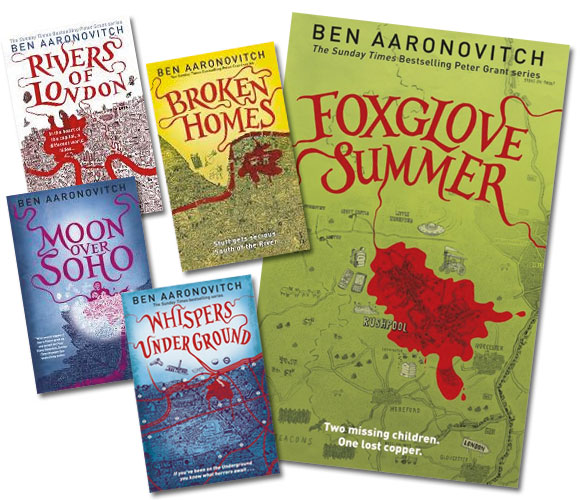 River of London series at Abbey's Bookshop, 131 York Street, Sydney