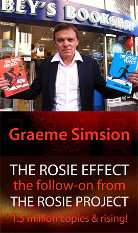 The Rosie Effect by Graeme Simsion at Abbey's Bookshop 131 York Street, Sydney