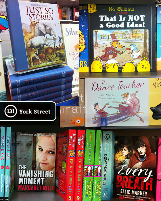 Children's Books at Abbey's Bookshop 131 York Street, Sydney