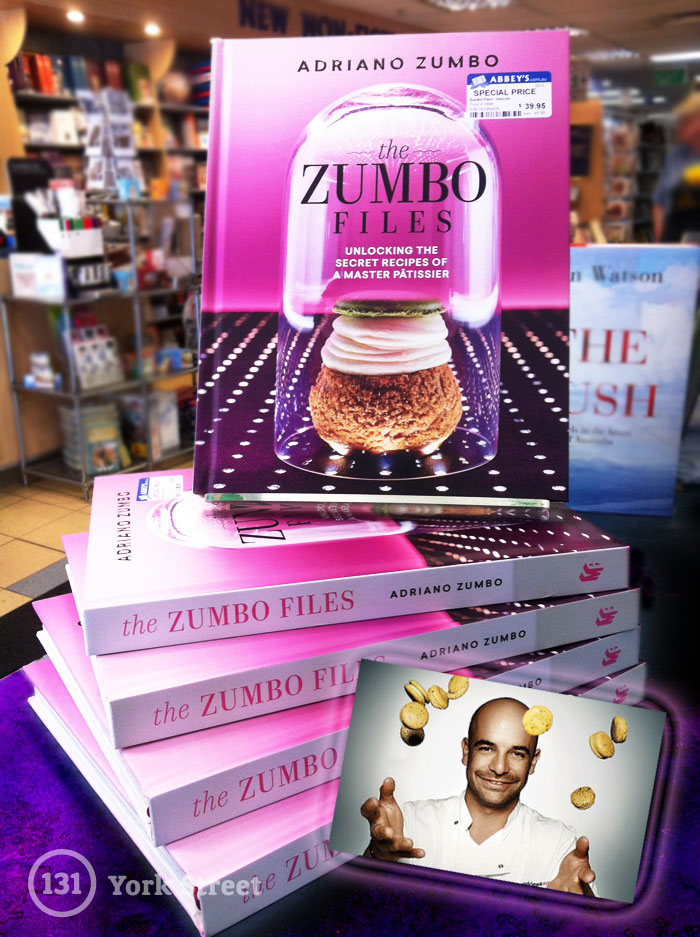 The Zumbo Files by Adriano Zumbo at Abbey's Bookshop 131 York Street, Sydney