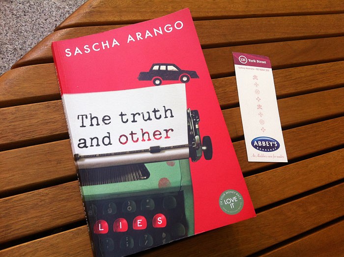 The Truth and Other Lies by Sascha Arango at Abbey's Bookshop 131 York Street, Sydney