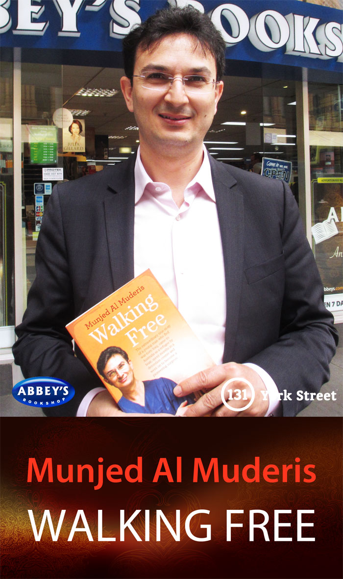 Walking Free by Munjed Al Muderis at Abbey's Bookshop 131 York Street, Sydney