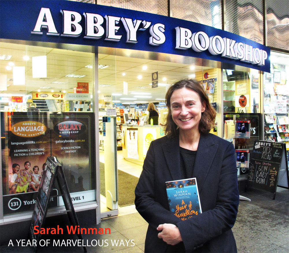 A Year of Marvellous Ways by Sarah Winman at Abbey's Bookshop 131 York Street, Sydney