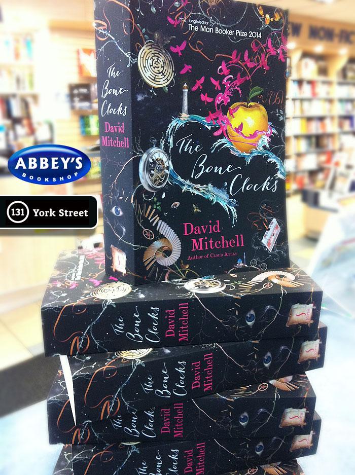 The Bone Clocks by David Mitchell at Abbey's Bookshop 131 York Street, Sydney