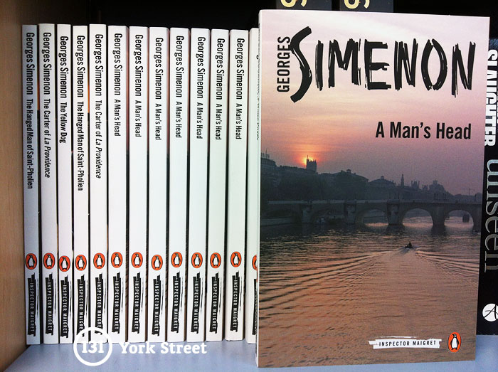 A Man's Head by Georges Simenon at Abbey's Bookshop 131 York Street, Sydney