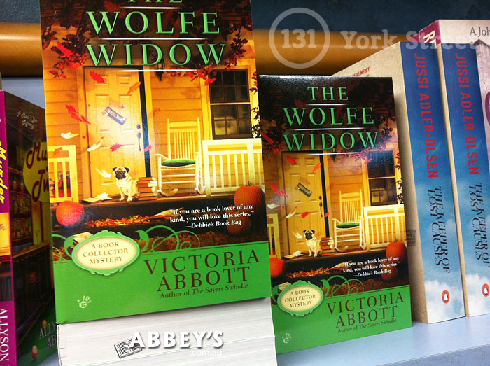 The Wolfe Widow: Book Collector #3 by Victoria Abbott at Abbey's Bookshop 131 York Street, Sydney